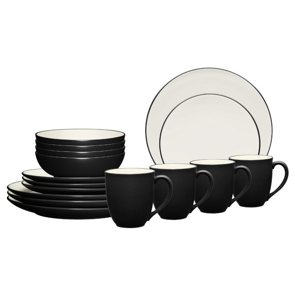 Colorwave Coupe 16 Piece Dinnerware Set, Service for 4 by Noritake