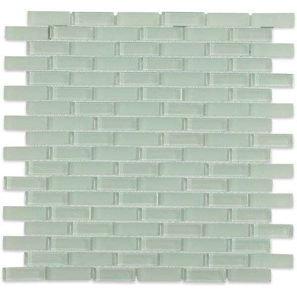 Contempo 0.6 x 2 Glass Mosaic Tile in Seafoam by Splashback Tile