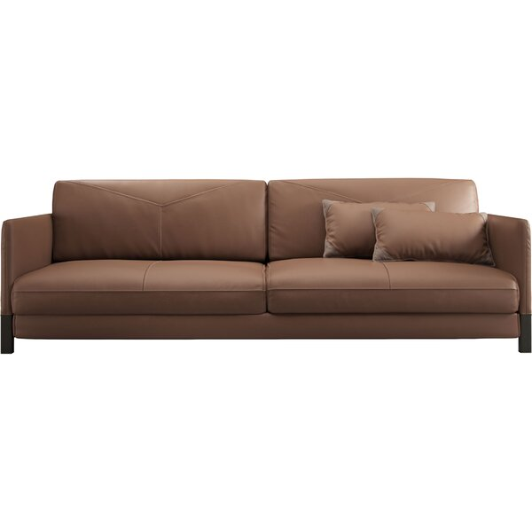 Fresh Look Lafayette Leather Modular Sofa by Modloft Black by Modloft Black