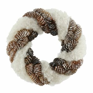 Snow and Pine Cone Twisting Wreath