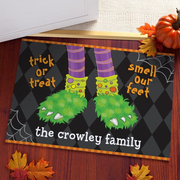 Altamirano Trick Or Treat Smell Our Feet Personalized Doormat by The Holiday Aisle