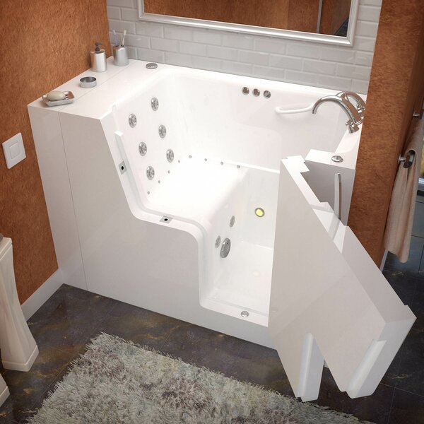 Mohave 53 x 29 Walk-In Air and Whirlpool Jetted Bathtub by Therapeutic Tubs