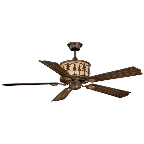 56 Jennings 5-Blade Ceiling Fan with Remote by Loon Peak