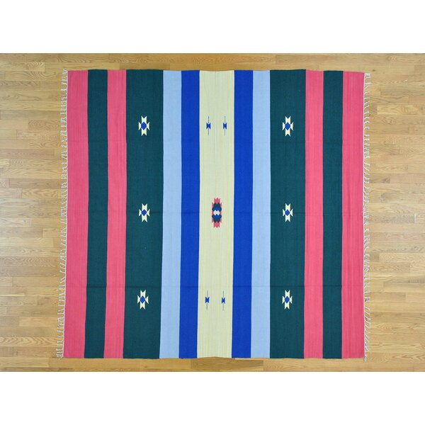 One-of-a-Kind Bickerstaff Southwestern Design Killim Handwoven Wool Area Rug by Isabelline