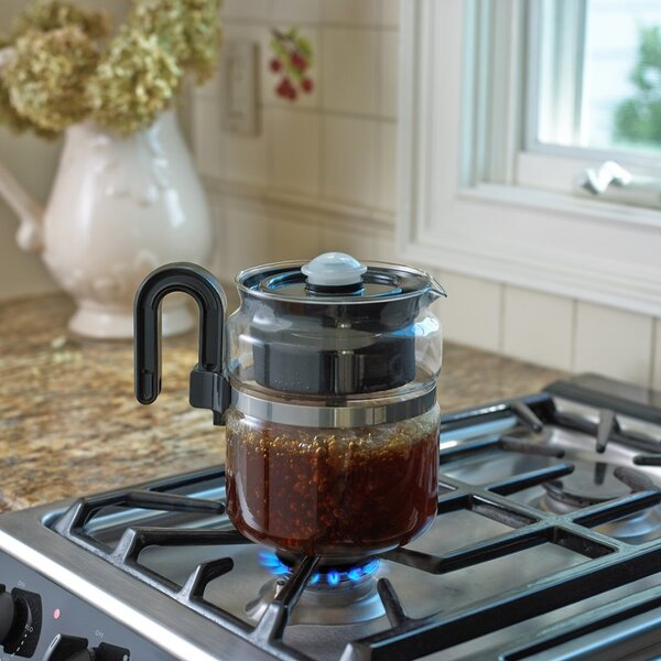 8-Cup Stovetop Coffee Maker by Medelco, Inc.