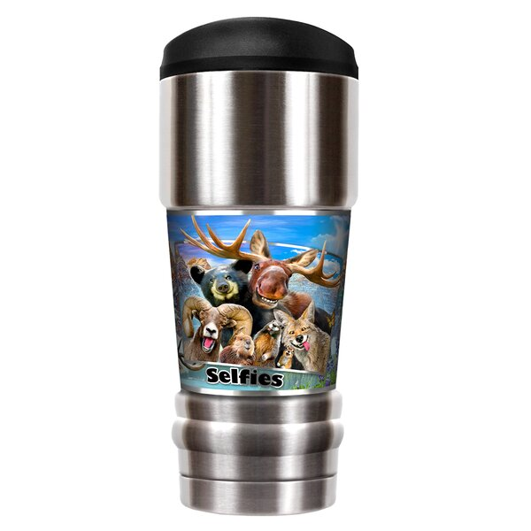 Rocky Mountain Selfies 18 oz. Stainless Steel Travel Tumbler by Great American Products