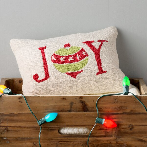 Joy Winter Pillow Cover by Three Posts