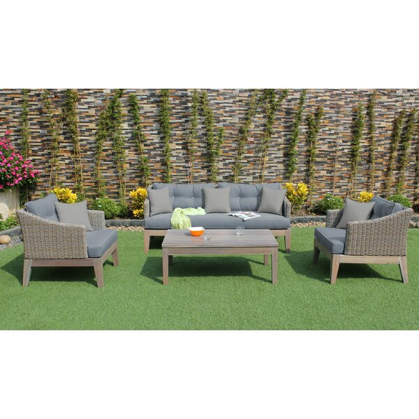 Agora 4 Piece Sofa Set with Cushions by Brayden Studio