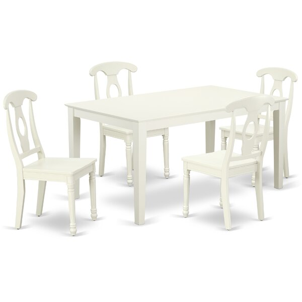 Lagarde 5 Piece Solid Wood Dining Set by August Grove August Grove