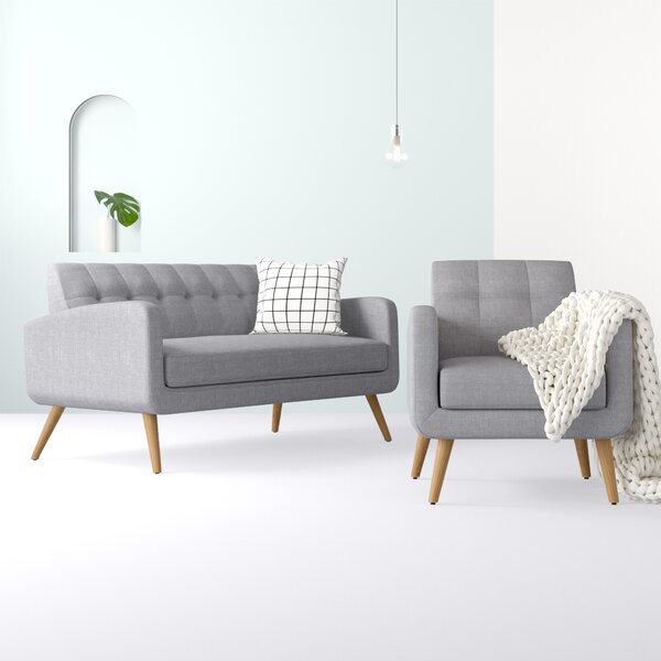 Araceli 2 Piece Living Room Set by Hashtag Home