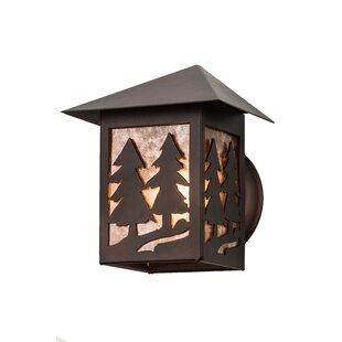 Budget Greenbriar Oak Outdoor Flush Mount By Meyda Tiffany