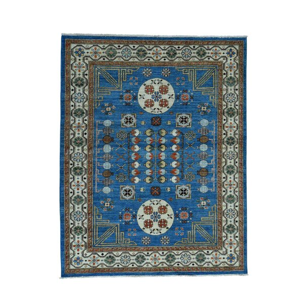 One-of-a-Kind Girardi Khotan Oriental Hand-Knotted Blue Area Rug by World Menagerie