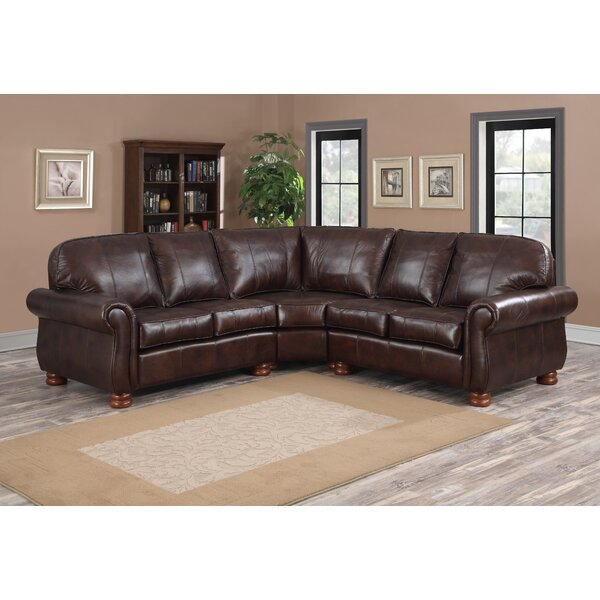 Beldale Leather Sectional by Darby Home Co