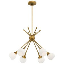 thayer 6light sputnik chandelier - Starburst Chandelier