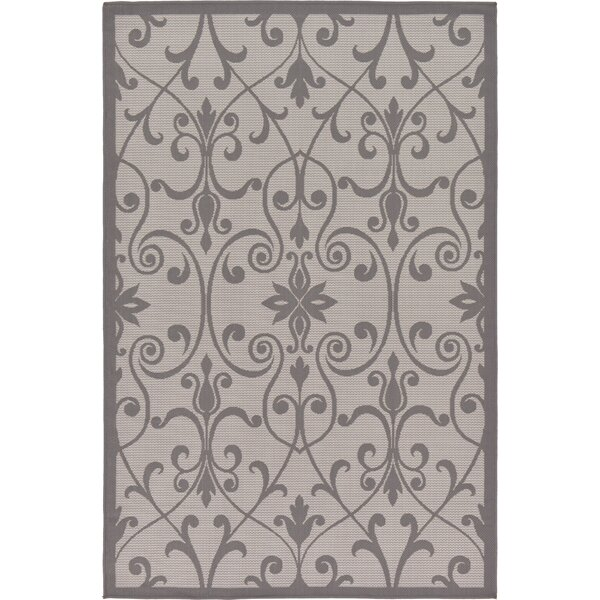 Floyd Gray Indoor/Outdoor Area Rug by Charlton Home