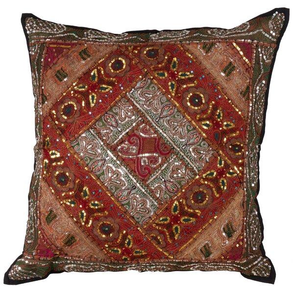 Rona Handmade Sari Sitara Design Cotton Euro by Bloomsbury Market