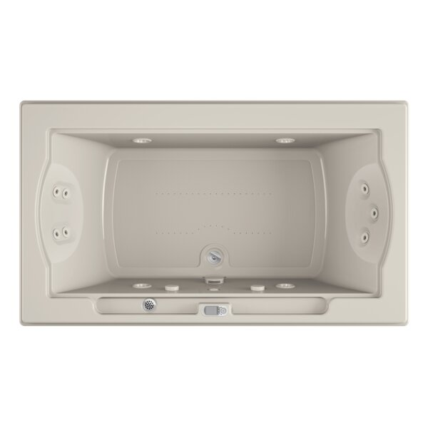 Fuzion Chroma LCD Right-Hand 72 x 42 Drop-In Salon Bathtub by Jacuzzi®