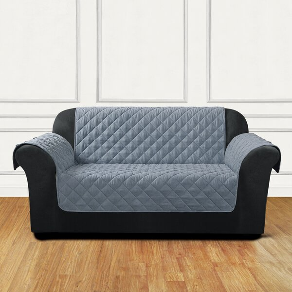 Quilted Pet Box Cushion Loveseat Slipcover By Sure Fit