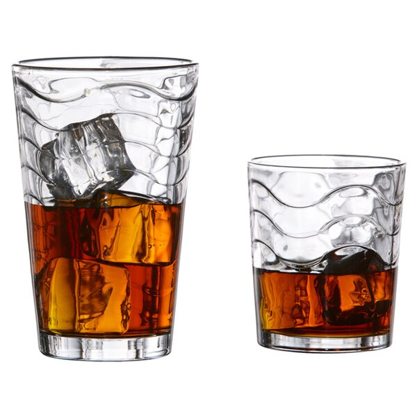 Allure 12 Piece Glass Set by Style Setter