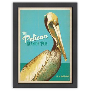 Pelican Pub Framed Vintage Advertisement by East Urban Home