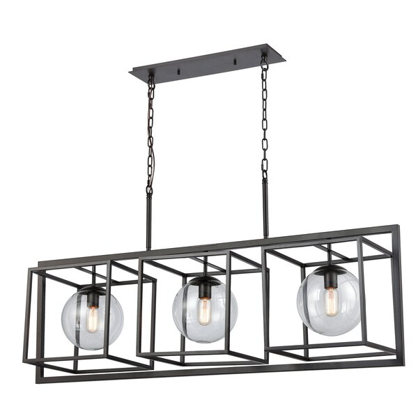 Caudill 3-Light Rectangle Chandelier By Williston Forge