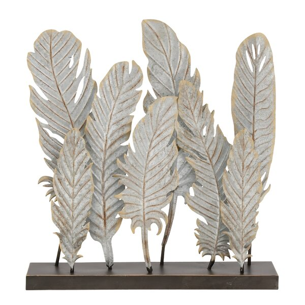 Decorative Metal Feather by Cole & Grey