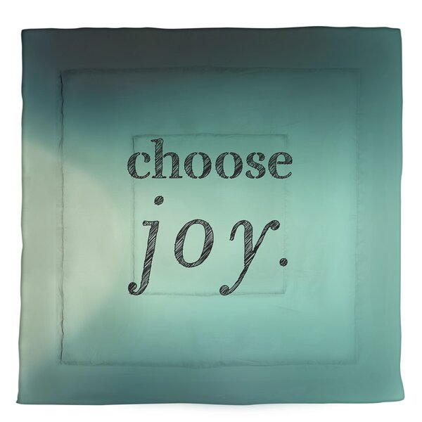 Choose Joy Quote Single Reversible Comforter
