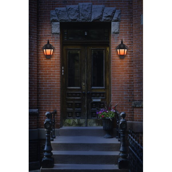 Parkin 1-Light LED Outdoor Wall Lantern (Set of 2) by Charlton Home