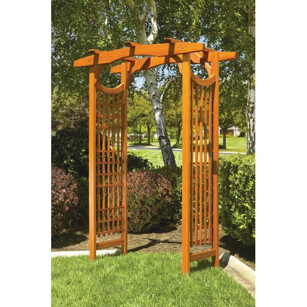 American Bungalow Garden Wood Arbor by Greenstone Garden Structures