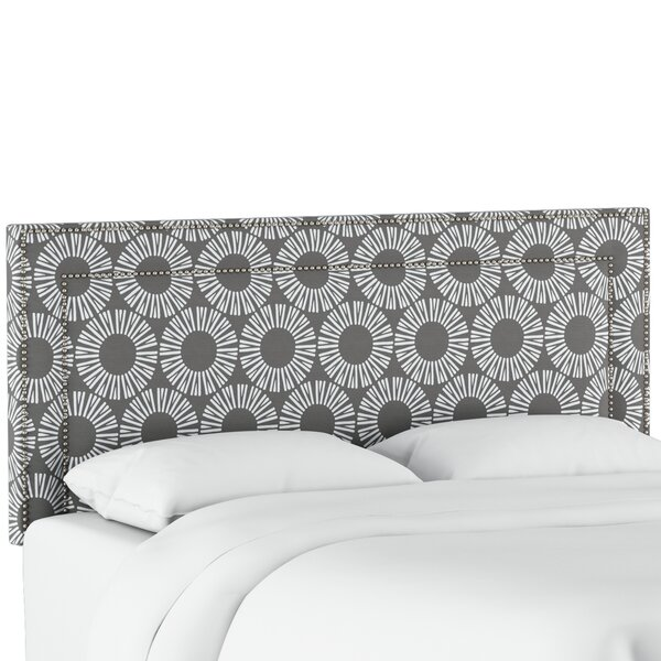 Edford Nail Button Border Medallion Upholstered Panel Headboard by Wrought Studio