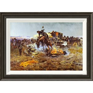 'Camp Cook's Troubles' by Charles M. Russell Framed Painting Print by Global Gallery