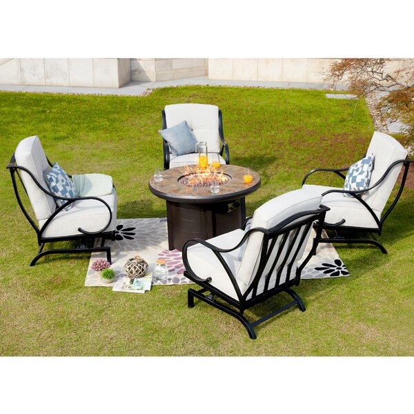 Bejarano 5 Piece Multiple Chairs Seating Group with Cushions by Darby Home Co