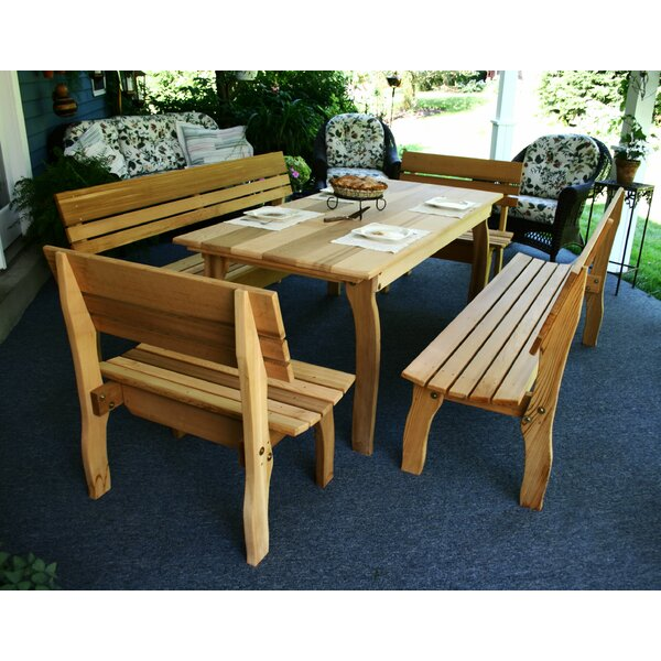 Tifton Cedar 5 Piece Dining Set by Millwood Pines