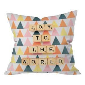 Happee Monkee Joy To The World Throw Pillow