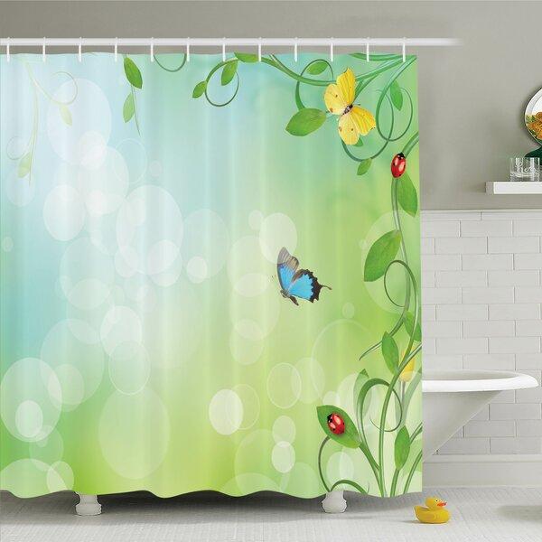 Penton Spring Flowers Sunny Shower Curtain Set by Latitude Run