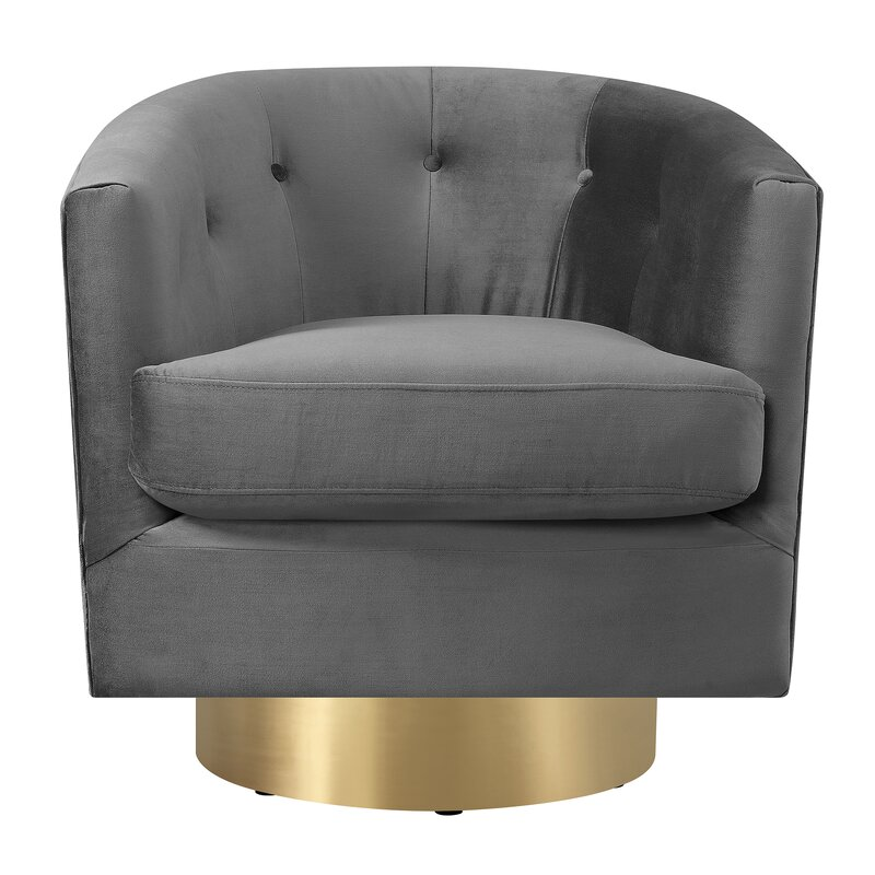Huang Swivel Barrel By Mercer41 Most Popular Accent Chairs