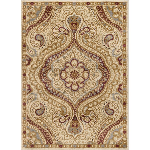 Lapoint Ivory 9 ft. 3 in. x 12 ft. 6 in. Transitional Area Rug by Astoria Grand