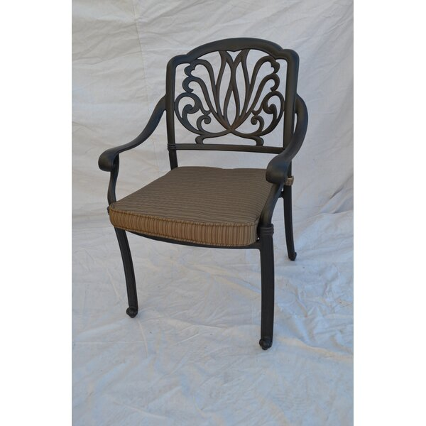 Kristy Patio Dining Chair with Cushion by Darby Home Co