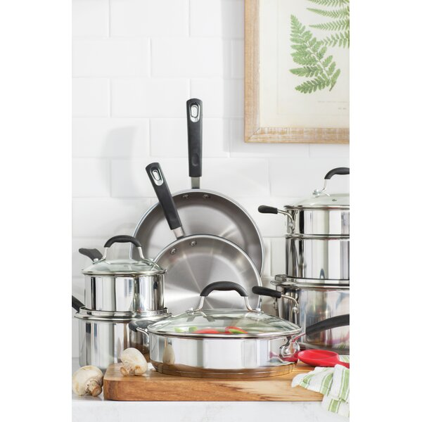 Prime 13-Piece Stainless Steel Cookware Set by Oneida