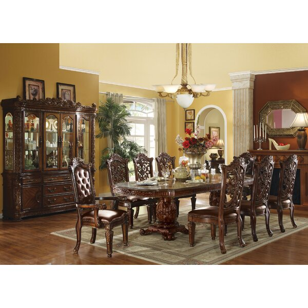 Vendome Floral Carved Dining Table A&J Homes Studio AJHO1037