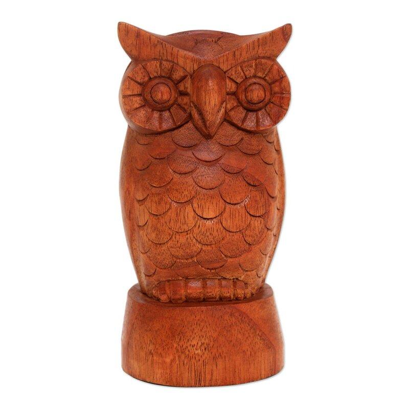 Wise Owl Wood Eyeglass Holder