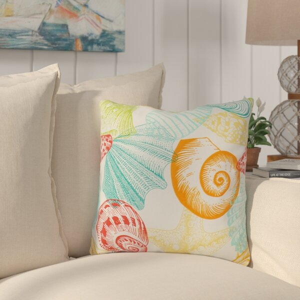 Huntington Sea Shell Outdoor Throw Pillow (Set of 4) by Rosecliff Heights