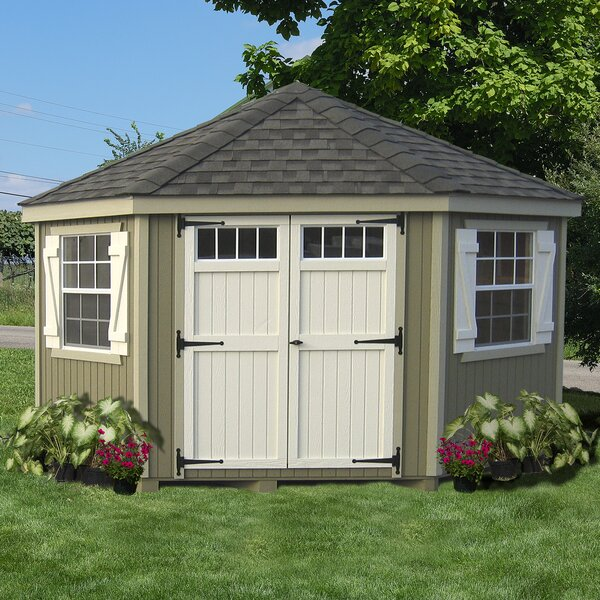 Colonial 10 ft. W x 10 ft. D Wooden Storage Shed by Little Cottage Company