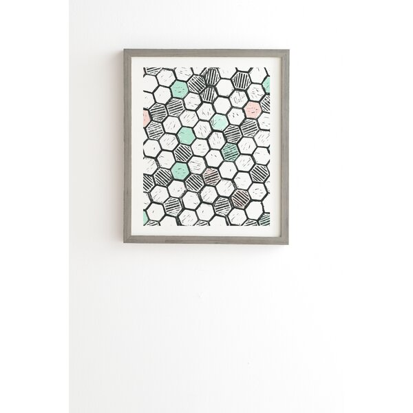 Honeycomb Block Print Framed Graphic Art by East Urban Home