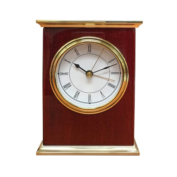 Executive Wood Desk Tabletop Clock by Alcott Hill