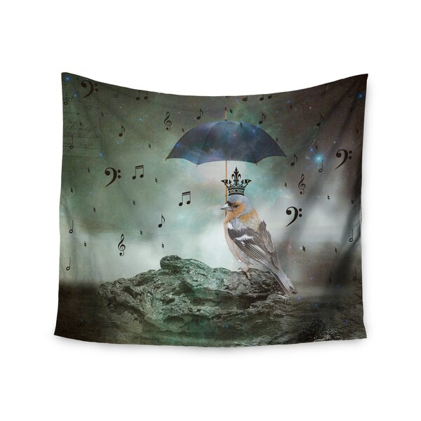 Umbrella Bird by Suzanne Carter Wall Tapestry by East Urban Home