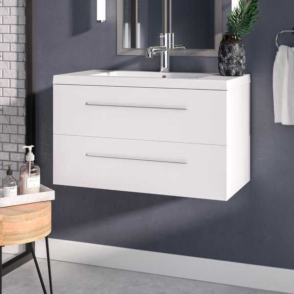 Hancock 36 Wall Mounted Single Bathroom Vanity Set by Orren Ellis
