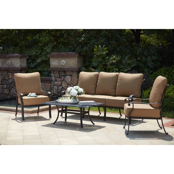 Melchior 4 Piece Sofa Set with Cushions by Astoria Grand