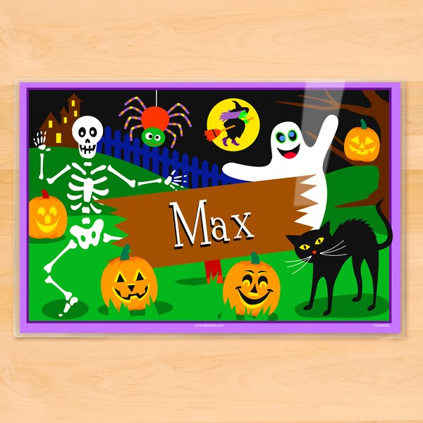 Halloween Ghost Personalized Placemat by Olive Kids