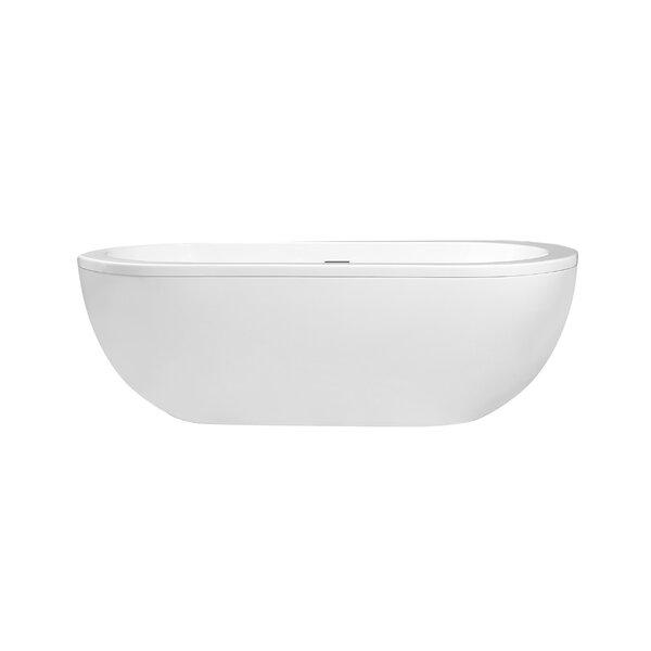 Sacha 71 x 34 Freestanding Soaking Bathtub by Cahaba